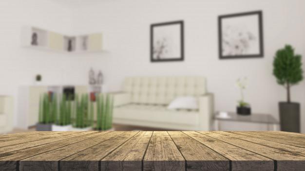 Lidt sløret billede af en stue
